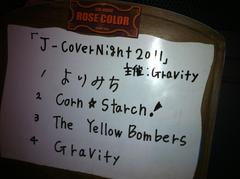 Many Thanks!J-Cover Night@RoseColor 2011/12/10