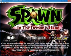 SPAWN in the demon's hand  (DC)