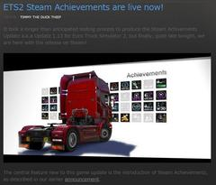 ETS2 Steam Achievements対応