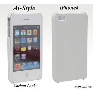 Ai-Style iPhone4 Carbon Look(ハードケース カーボンルック)