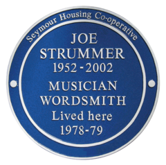 JOE STRUMMER PLAQUE TO BE UNVEILED
