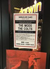 2018.9.29 THE MODS×THE COLTS@仙台Darwin