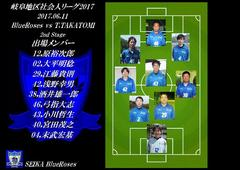 6/11(日) BlueRoses vs T.TAKATOMI!後半戦開始!