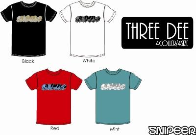 「Three Dee」Tee