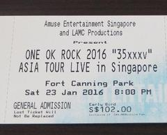 "One OK Rock 2016 ""35xxxv"" Asia Tour Live"