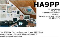 MEXICO RTTY International Contest 結果 32局