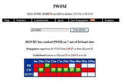 10MHz  CW  5W0M サモア