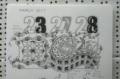 "Zentangle challenge #309 ""Noom"""