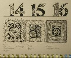 "Zentangle challenge #311: ""Circle/Square String"""