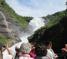 Kjosfossen Waterfall along Flam Railway, Norway (23 June 2016).jpg