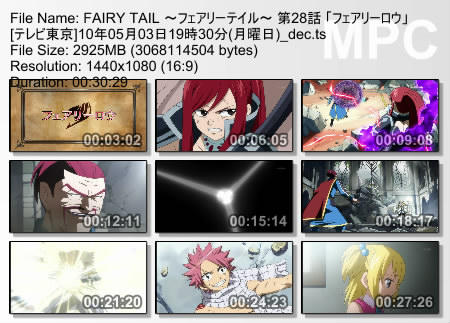 FAIRY TAIL ~フェアリーテイル~ 第28話 「フェアリーロウ」