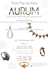 Aurum of London Xmas Pop-Upに参加します☆