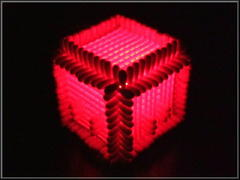 Cotton-swab Cube with LED