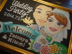 Wedding Party Welcome Board ♪