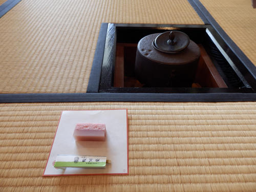 万博公園でお茶体験(tea ceremony at Banpaku in Osaka)