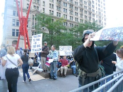 Protesters in Wall Street