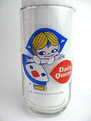 ★1970's Dairy Queen ビンテージ グラス LITTLE MISS DAIRY★
