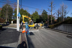 Road construction 道路工事