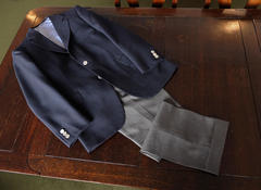 Navy Jackets & Grey Trousers