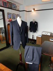 Navy Chalk Stripe 3-piece Suits
