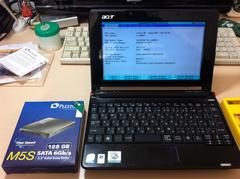Acer Aspire One AOA-150Bk1 SSDへ交換