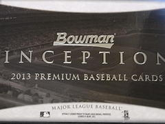 2013 Bowman Inception 開封