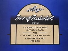 2013 Leaf Best Of BasketBall 開封 2BOX目