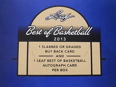 NBA 2013 Leaf Best Of BaskettBall 3box目 開封