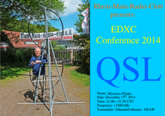 The SW broadcast of RMRC to EDXC Conference eQSL