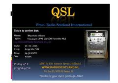 Radio Scotland International eQSL