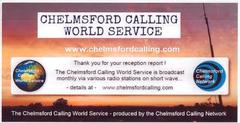 Chelmsford Calling World Service paper QSL