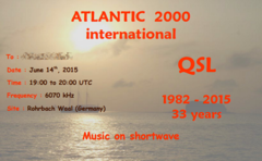 Atlantic 2000 33rd Birthday Show's eQSL