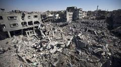 "Gaza city district now a ""ghost town "" 2014.7.27"