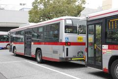 Training of bus drinving バス運転教習中