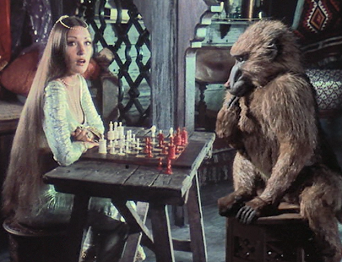 Jane Seymour and Baboon - Sinbad and Eye of the Tiger.PNG