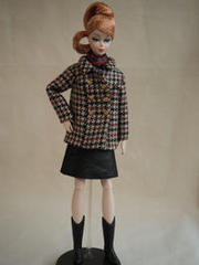 "Original Dolldress 014 Half Coat ""Pied-de-Poule"""