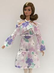 "Dress with belts ""Louise Flowery"""
