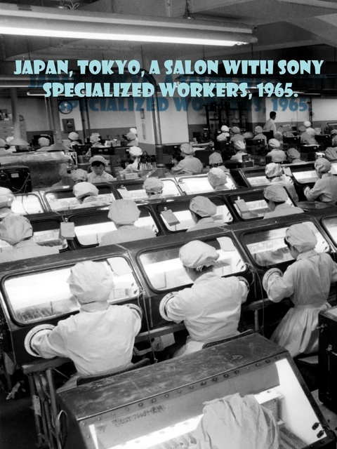 Japan, tokyo, a salon with sony specialized workers, 1965..jpg