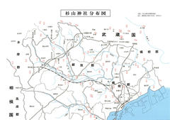 Distribution map of Sugiyama shrine 杉山神社分布図