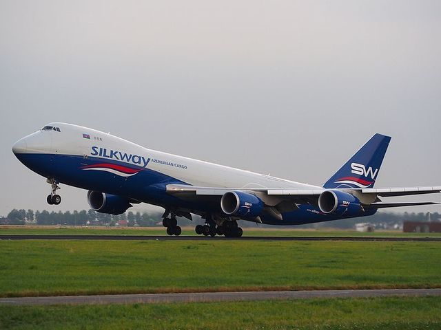 1A12-_Silk_Way_West_Airlines_B747-8F takeoff_from_Schiphol.jpg